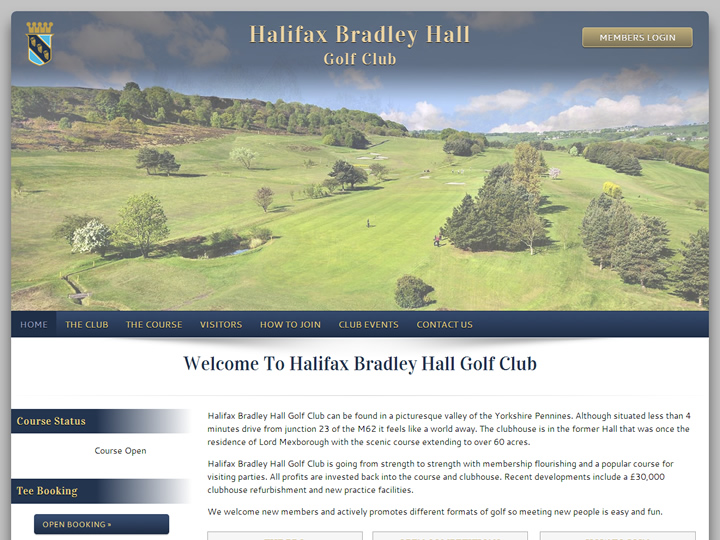 Halifax & Bradley Hall Golf Club Website