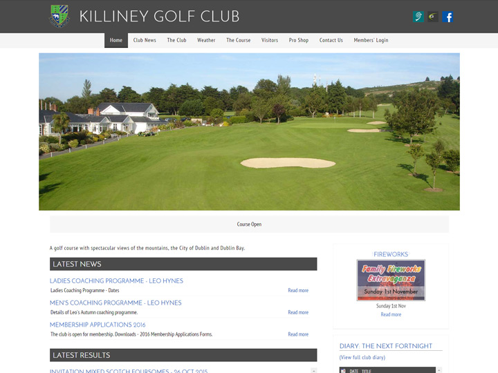 Killiney Golf Club Website